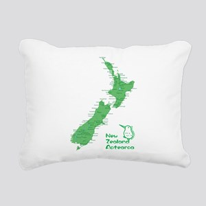 New Zealand Map Rectangular Canvas Pillow